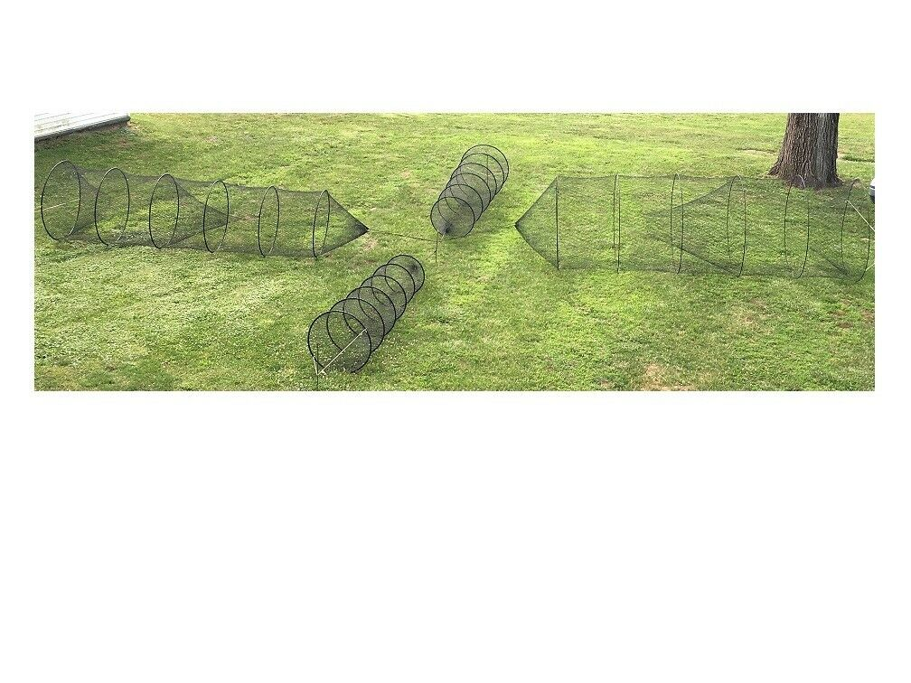 Fresh Water Fishing Hoop Net Homemade 12 feet long by 30 inch, 3,4,5 foot hoops