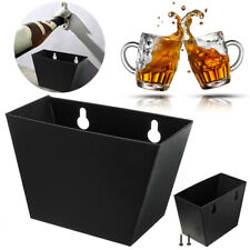 Wall Mount Beer Bottle Opener Cap Catcher Stainless Steel Storage Case Box