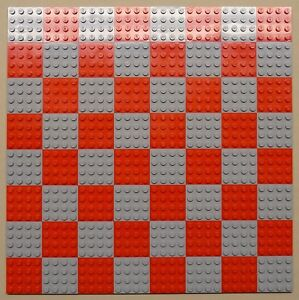 x64 NEW Lego Plates 4x4 Blue /& Green Baseplates MAKES CHESS Game Board