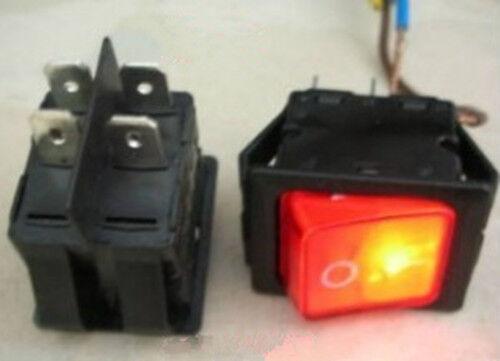 1pcs 110V-250V OFF//ON 2-Gang Light Rocker Switch Heavy Duty