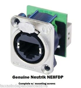 Neutrik-NE8FDP-Ethercon-RJ45-Feed-Through-D-Series-Panel-Mount-Jack-Pass-Through