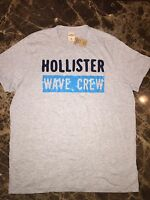 Mens Size Xl •hollister• Gray Logo T Shirt• W/tags >wave Crew