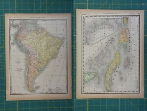South america west indies vintage original 1894 rand mcnally world image is loading south america west indies vintage original 1894 rand gumiabroncs Image collections