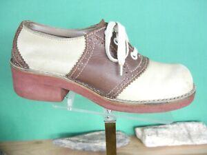 Bass Tack Saddle Shoes 1970's Brown/Tan  US women's 10M