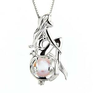 Mermaid-Pearl-Cage-Pendant-Necklace-Freshwater-Pearls-Necklace-Jewelry-Gift