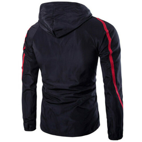 Mens Combat Windproof Waterproof Hoodies Tactical Zip Jacket Trench Coat Outwear