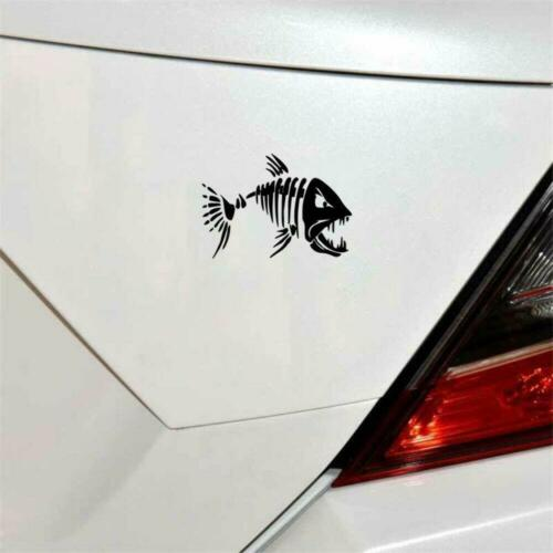 Mad Fish Skeleton Fun Window Bumper Sticker Vinyl Decal 17.8CM x 12.6CM