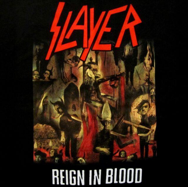 SLAYER cd cvr REIGN IN BLOOD Official Black SHIRT Size XXL 2X new