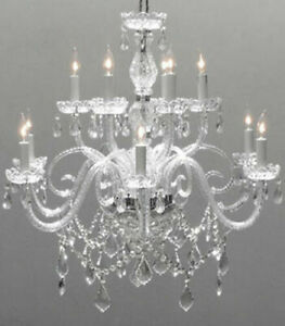 12 Light Venetian Style Made With Swarovski Crystal Chandelier Living Room Ebay