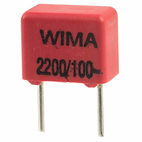Wima FKP2D012201D00KS FKP2 2200pF ±10/% 100V Radial Polypropylene Capacitor