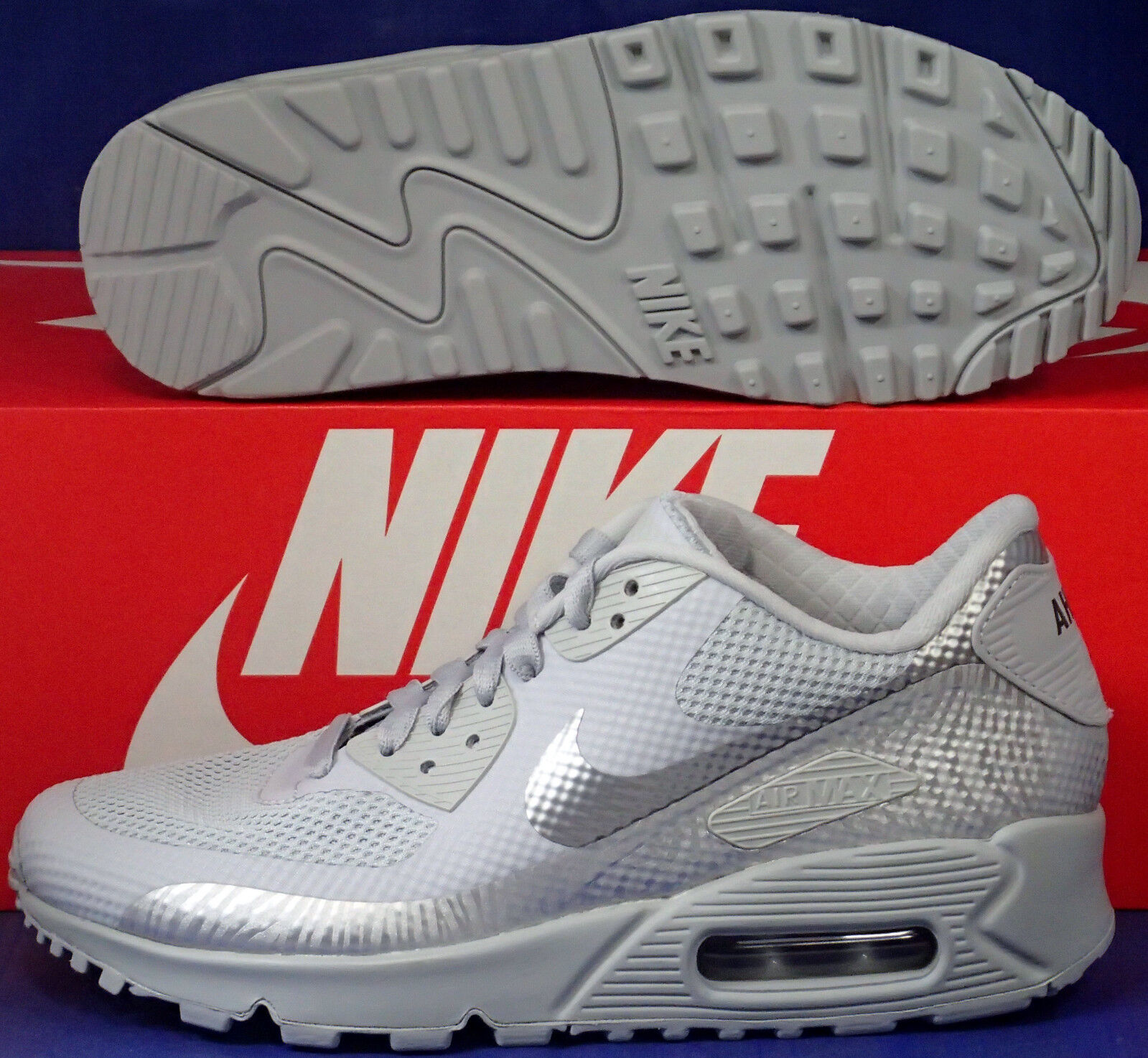Womens Nike Air Max 90 Hyperfuse Premium iD Wolf Grey Price reduction