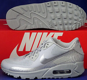 Details about Womens Nike Air Max 90 Hyperfuse Premium iD Wolf Grey SZ 5 ( 653606 993 )