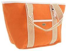 NWT Lacoste Tangerine Orange Medium COTTON CANVAS Shopping bag Tote Handbag