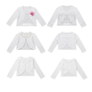 Kids-Girls-Long-Sleeve-Bolero-Shrug-Cardigan-Top-Lace-Flower-Dress-Top-Jacket