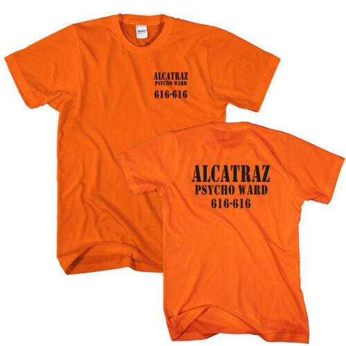 Alcatraz Halloween T-Shirt Costume Prison Psycho Ward Mens Womens Kids Top L305