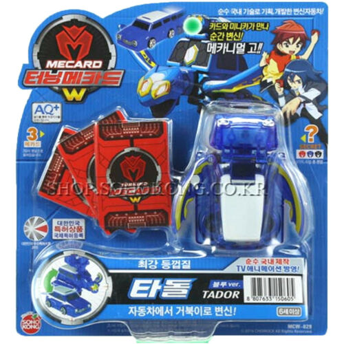 from Korea TV Official Goods Turning Mecard W Tador Blue Transforming Robot