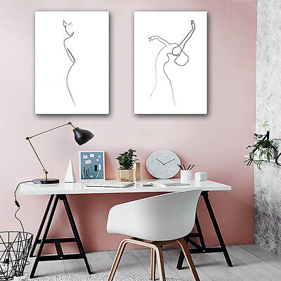 Dance Girl Abstract Art Minimalist Canvas Poster Painting Room Decor 349