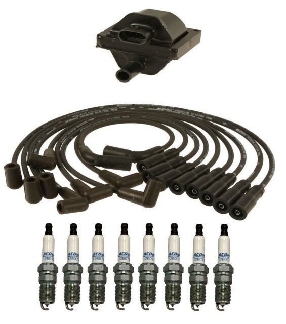 Ignition Wires 1 Coil 8 Spark Plugs Kit Acdelco For