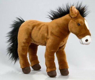 Plüsch-Pferdchen Fohlen Pony Stoff-Pferd Stoffpferd Plüschpferd braun 35 cm groß