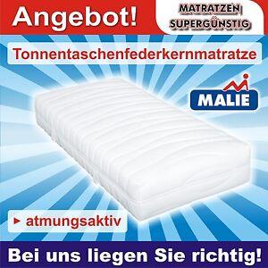 malie 7 zonen tonnentaschenfederkern matratze 90x200x23cm h4. Black Bedroom Furniture Sets. Home Design Ideas