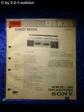 Sony Service Manual CFS W35S Cassette Recorder (#1042)