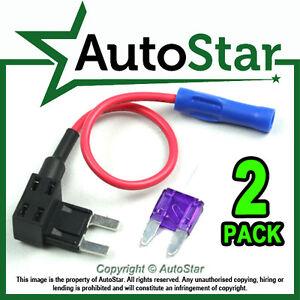 2-Ajoutez-un-circuit-fuse-tap-piggy-back-mini-lame-fusible-titulaire-atm-APM-12V-24V-VOLTS
