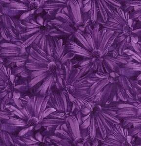 RJR Debbie Beavs Dark Purple Lovely Violet Lavender Daisy Floral ... : lavender quilting fabric - Adamdwight.com