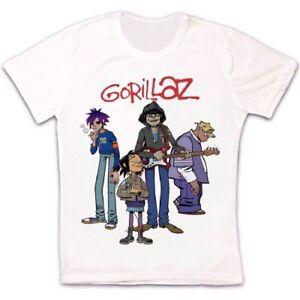 Gorillaz-banda-virtual-Rock-Punk-Hip-Hop-de-estilo-vintage-y-retro-Unisex-T-Shirt-1220