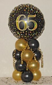 Image Is Loading 65TH BIRTHDAY AGE 65 FOIL BALLOON DISPLAY TABLE