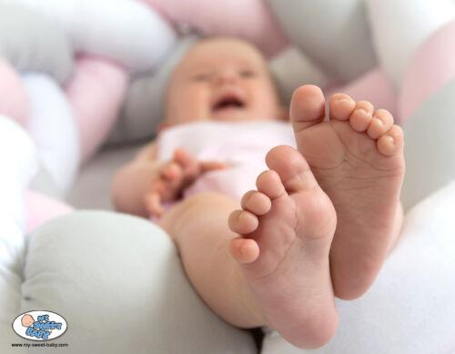 Baumwoll geflochtenes Nestchen Kopfschutz Kinderbett Bettzopf geflochten beige