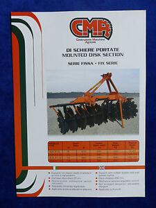 Capable Cma Italie-di Simple Portate-mounted Disk-prospectus Brochure (0774-afficher Le Titre D'origine Riche Et Magnifique
