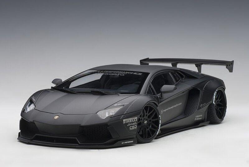 Toison aime les Jeux olympiques, la la la phrase d'or envoie un cadeau AUTOART 79106 1/18 Liberty Walk LB-Works Lamborghini Aventador-Matt Black   Fiable Réputation  7cde4b
