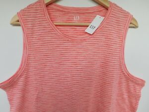 NWT-Gap-Women-039-s-Tank-Top-Soft-Easy-Pink-Striped-XS-S-M-L-XL-New-Free-Ship-New