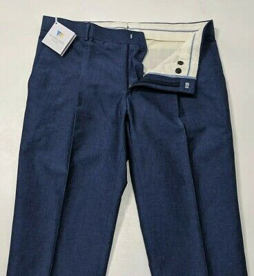 New Kenzo Navy Blue Chino Trousers RRP £150 BNWT