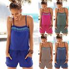 Womens Holiday Playsuit Jumpsuit Strap Summer Beach Wear Hot Shorts Mini Dress