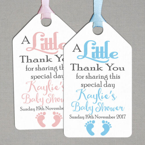 Personalised Baby Shower Christening Thank You Tags BS01