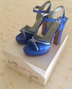 Sandali Blu Elettrico in Camoscio N. 37 | eBay
