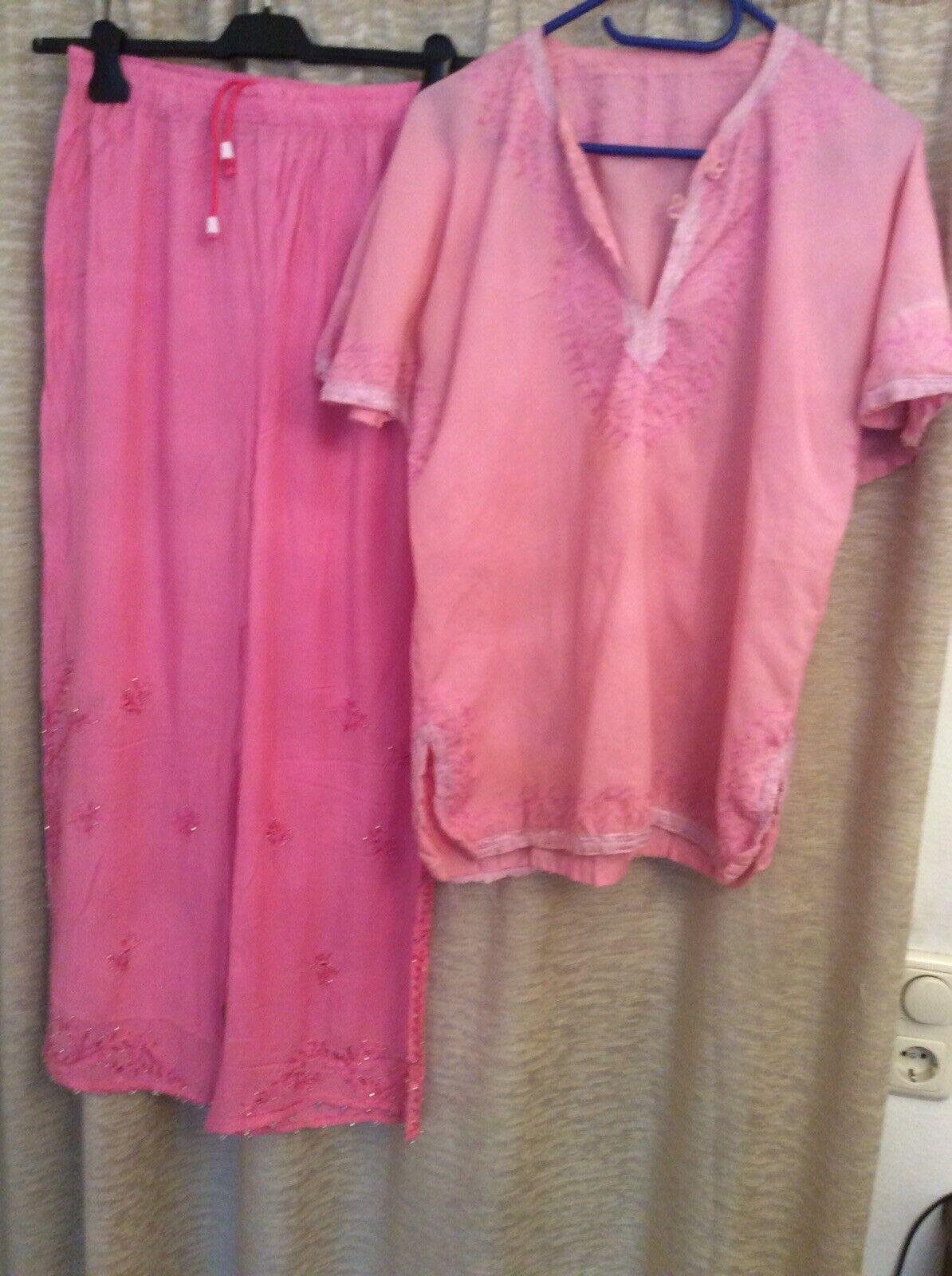 Indische Bekleidung Zum Reparieren, 2 Teile, Rosa