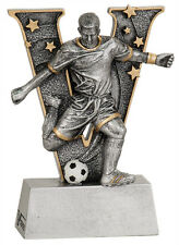 "6"" V Series Resin Soccer Male Trophy  JDSV810"