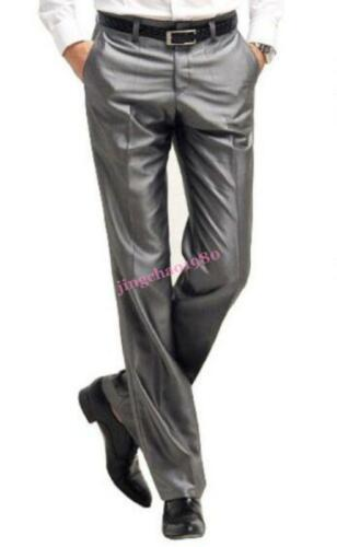 Mens Slim Cool Fit Trouser Wedding Business Formal Party Dress Straight  Pants