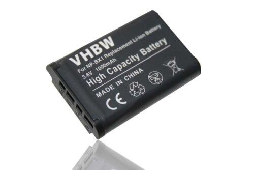 Battery 1000mAh for Sony Cybershot DSC-WX350