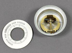 alter-Einbau-Barometer-im-Metallgehaeuse-Wetterstation-mit-Pappzifferblatt