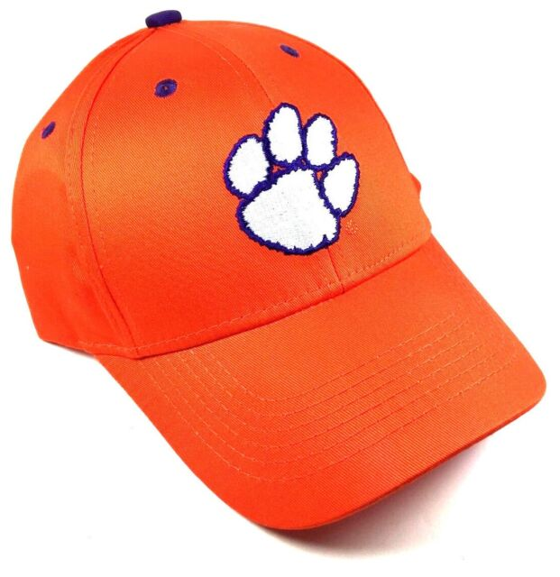 super popular 73adc b1a58 ... canada clemson university tigers orange paw logo adjustable hat cap  curved bill retro e675b edc0c