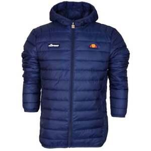 Ellesse SHS01115 Lombardy Padded Zip Hooded Navy Jacket