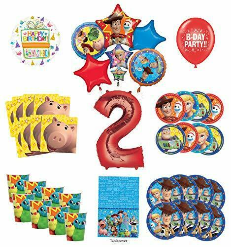 Toy Story 2nd Birthday Party Supplies 8 Guest Decoration Kit with Woody Buzz...