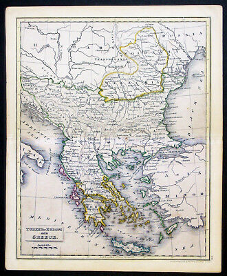 1810 John Russell Son Antique Map Turkey In Europe Greece To