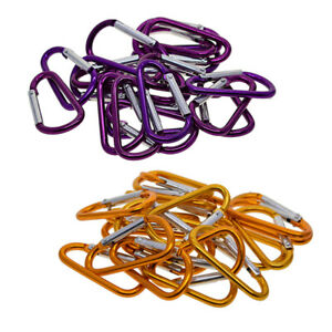 40pcs-Aluminum-Carabiner-D-Ring-Key-Chain-Keychain-Clip-Hook-Cars-Outdoor-Buckle