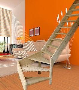 raumspartreppe korfu 1 4 gewendelt rechts ohne setzstufen ohne handlauf ebay. Black Bedroom Furniture Sets. Home Design Ideas