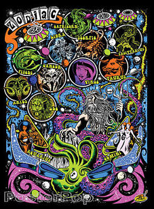 Day-Glow-Zodiac-STICKER-Decal-Dirty-Donny-Creative-Space-Wizard-Octopus-DD77