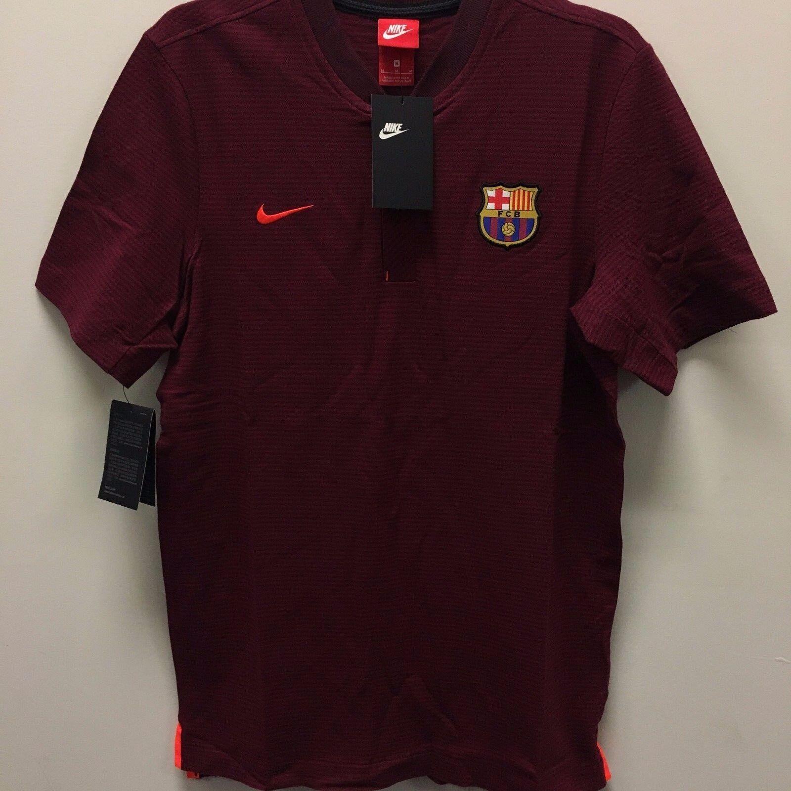 Nike Fc Barcelona Authentic Maroon 2017 2018 Polo  Camisa de fútbol  muchas concesiones